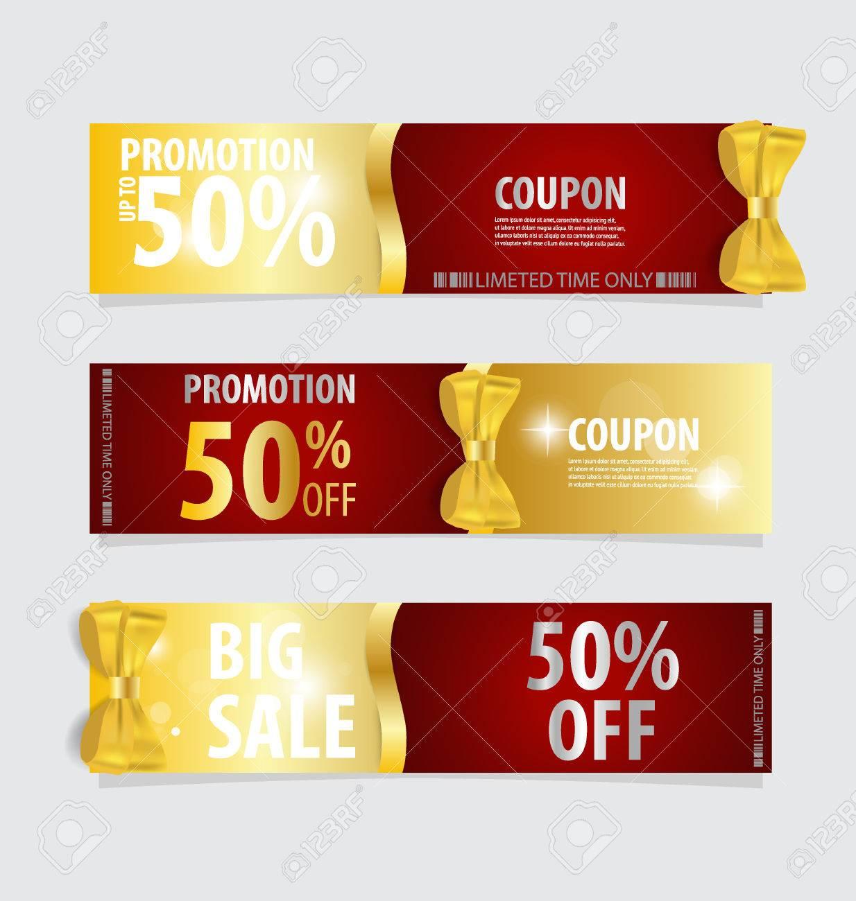 gift coupons gift bows and ribbons vector illustration gift coupons gift bows and ribbons vector illustration stock vector 45980344