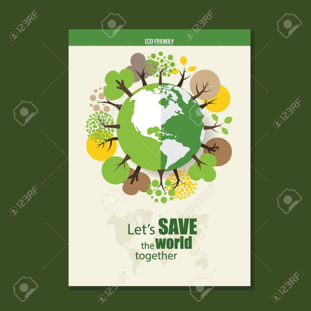 Vector Brochure Flyer Design Layout Template Ecology Background