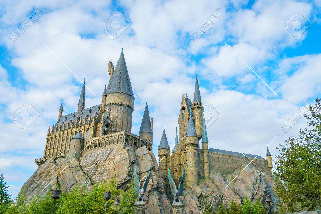 OSAKA, JAPAN - December 1, 2015: Universal Studios Japan (USJ). According to 2014 Theme Index Global Attraction Attendance Report, USJ is ranked fifth among the top 25 amusement parks worldwide. - 62583753