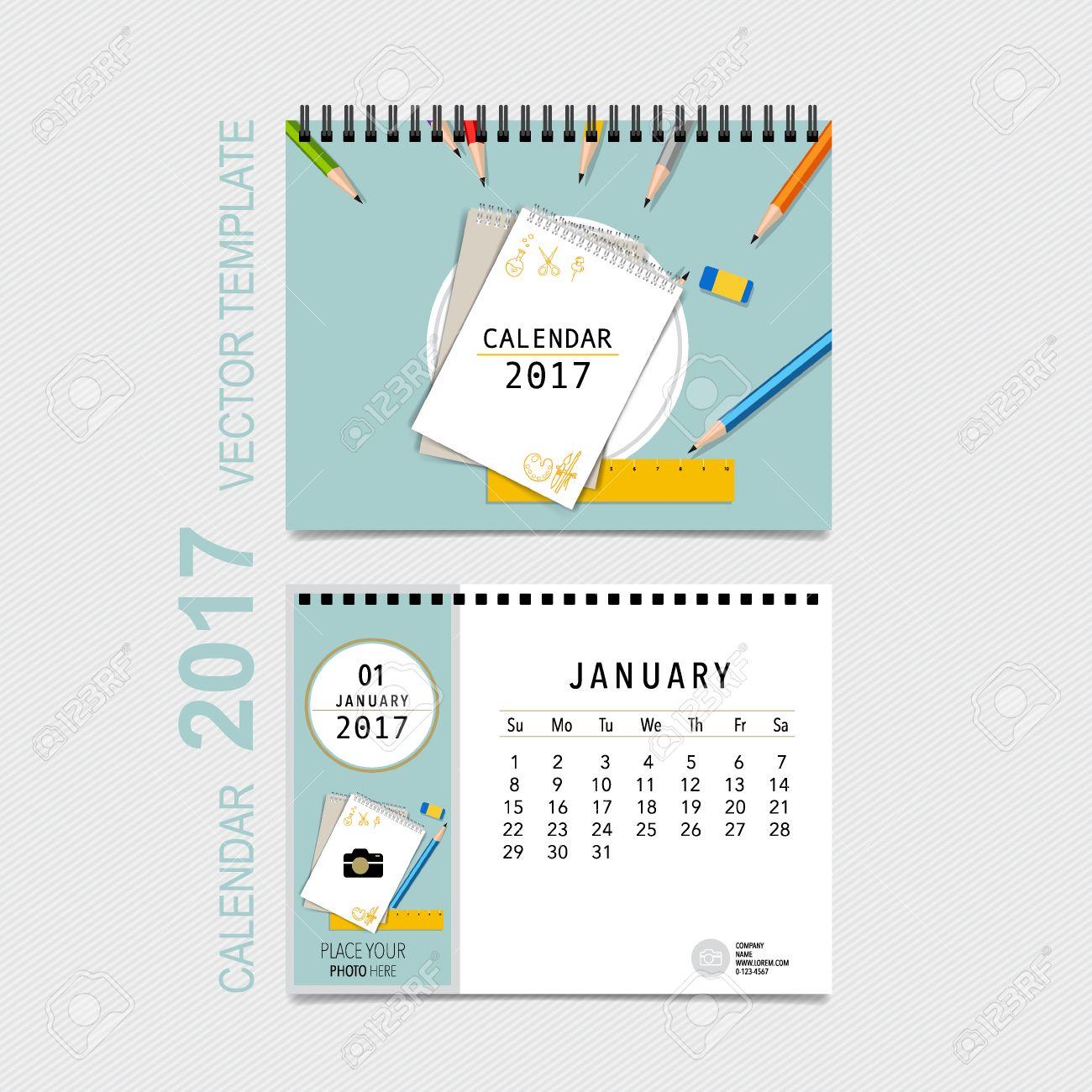 2017 calendar planner design template monthly calendar template
