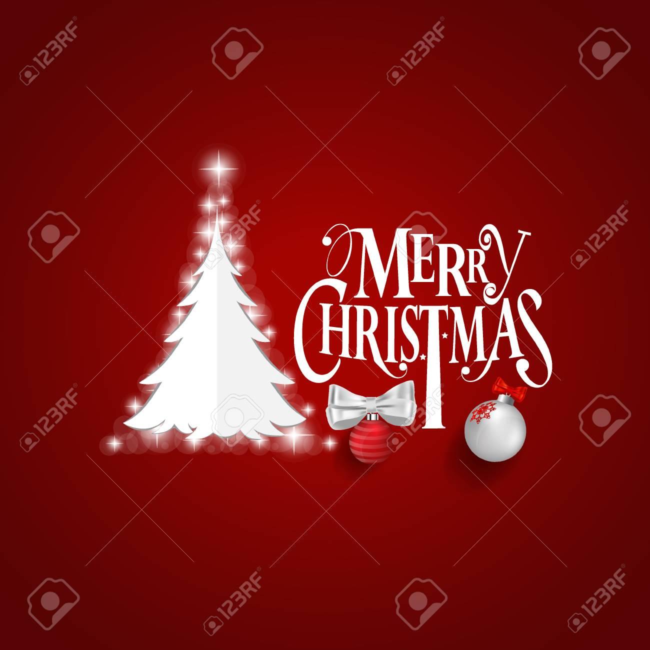Karte Frohe Weihnachten.Stock Photo