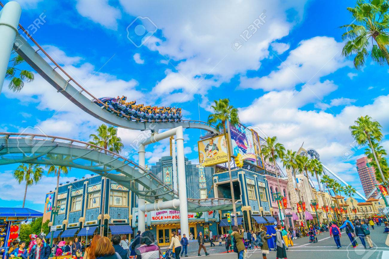OSAKA, JAPAN - December 1, 2015: Universal Studios Japan (USJ). According to 2014 Theme Index Global Attraction Attendance Report, USJ is ranked fifth among the top 25 amusement parks worldwide. - 67729146