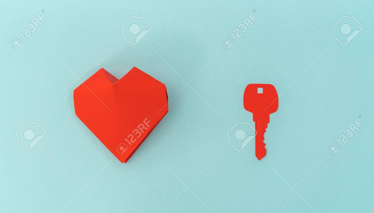 Paper cut of key for heart as a symbol of love stock photo paper cut of key for heart as a symbol of love stock photo 70020543 biocorpaavc Images