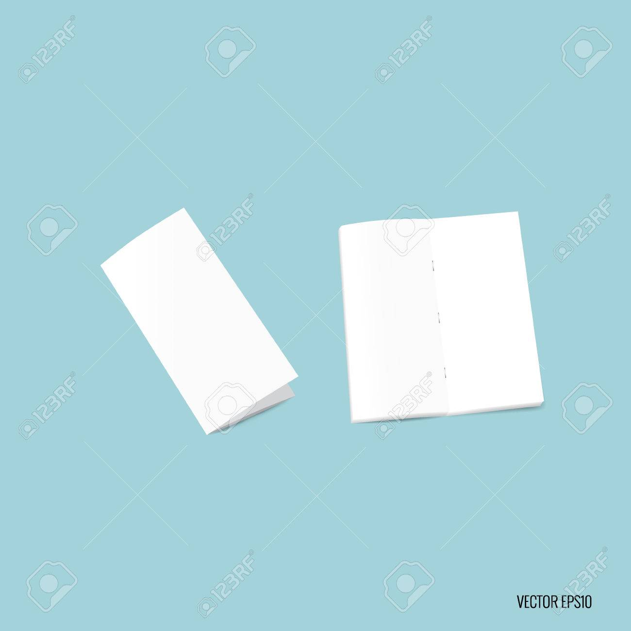 bifold white template paper vector illustration royalty free
