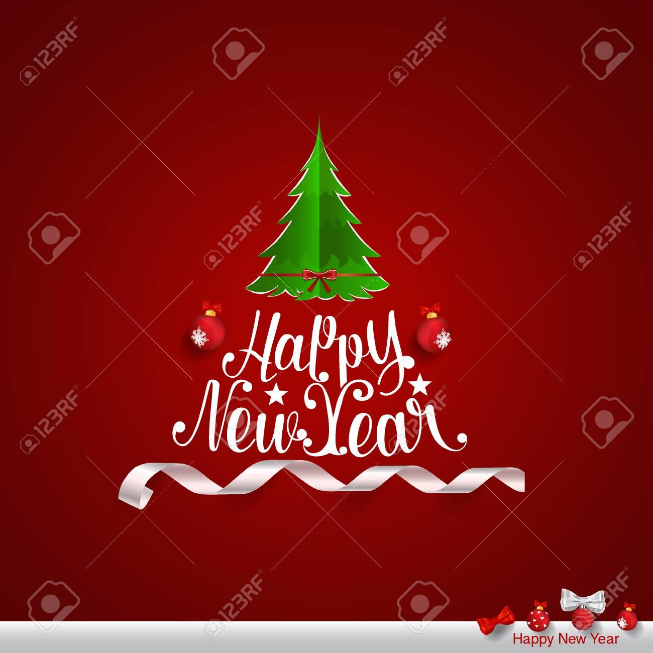 Frohe Weihnachten Und Guten Rutsch Ins Neue Jahr Grußkarte, Vektor ...