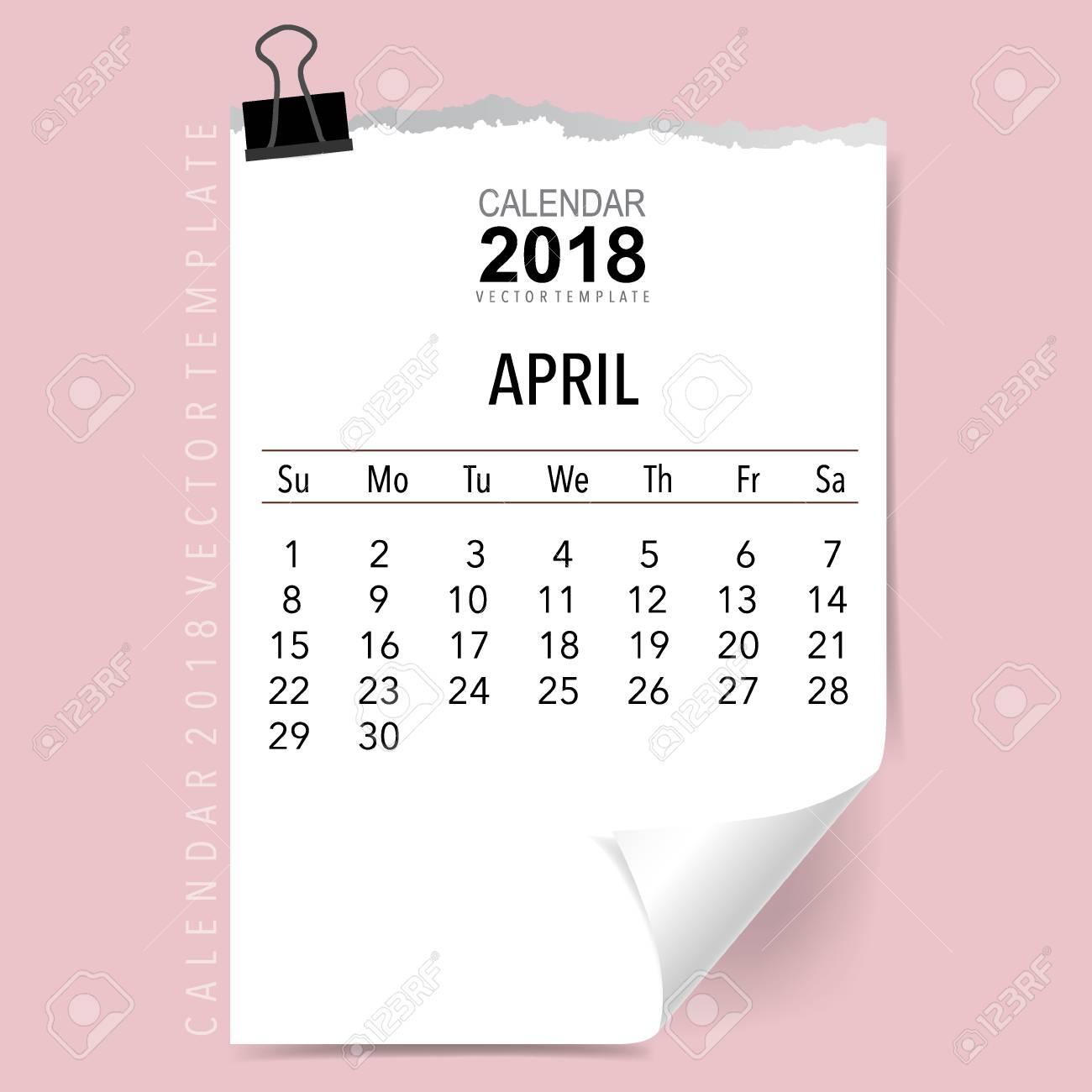 2018 Calendario Planificador De Diseño Vectorial, Plantilla De ...