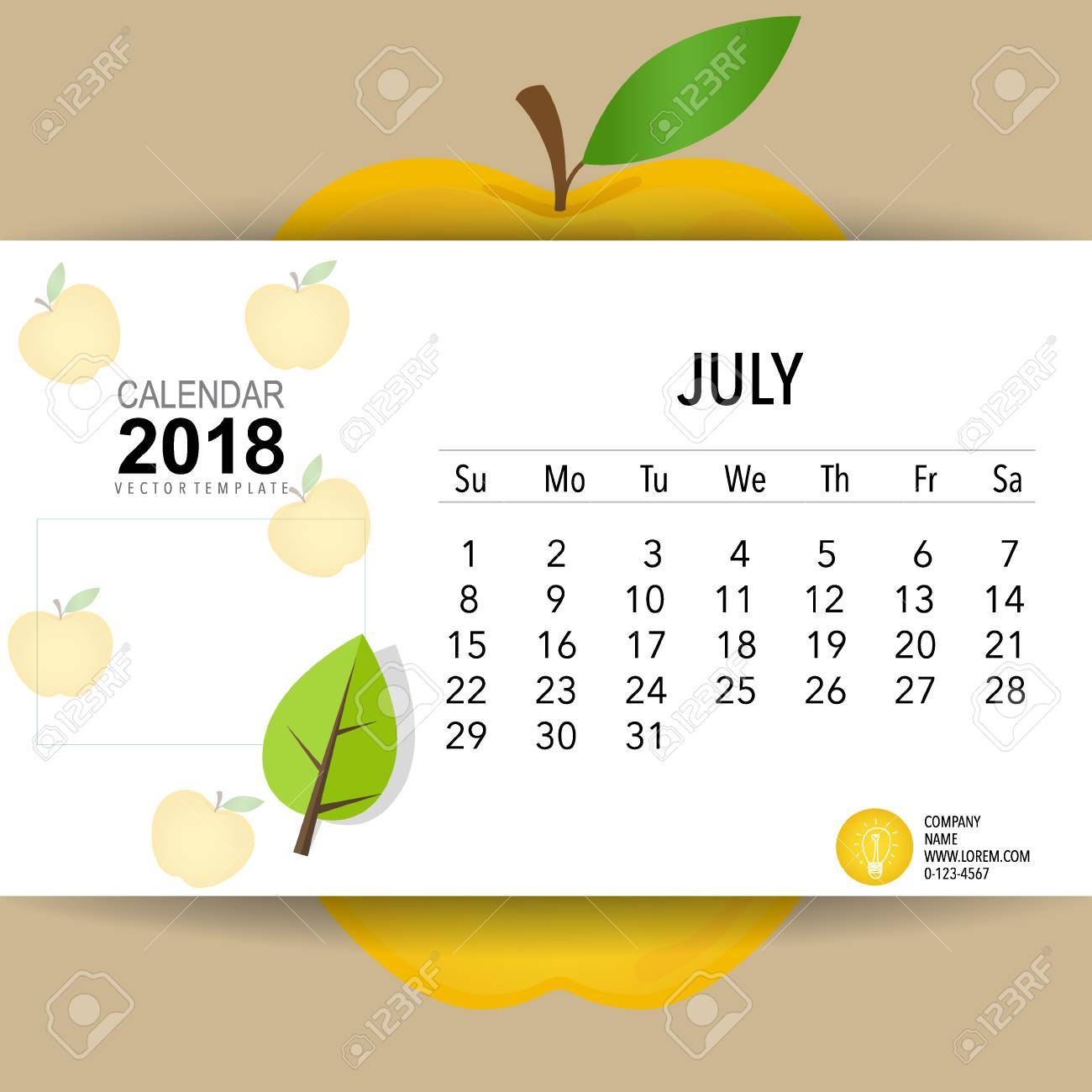 2018 Calendar Planner Vector Design Monthly Calendar Template
