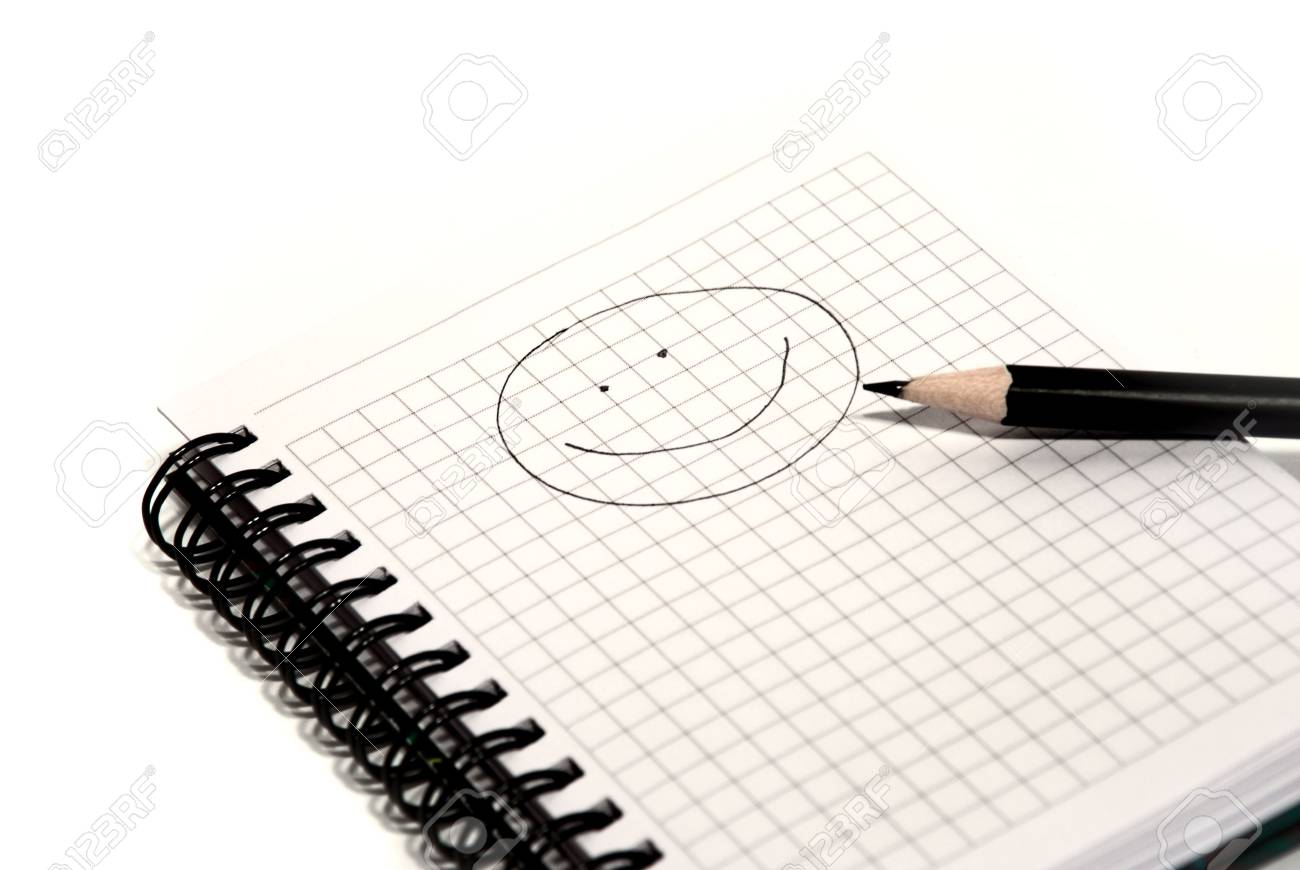 notepad and pencil on a white background Stock Photo - 5092703