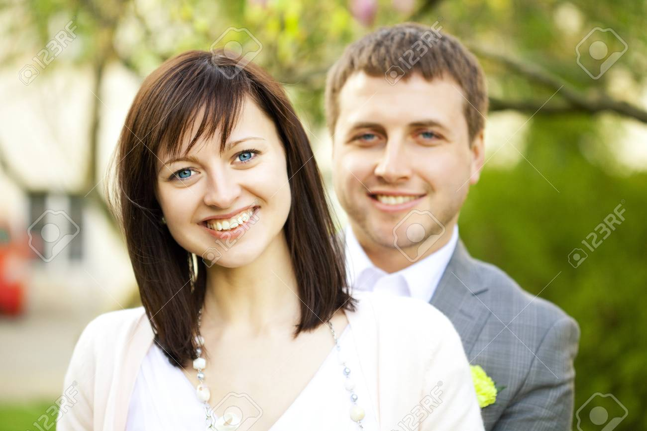 just married on the nature Stock Photo - 7181207