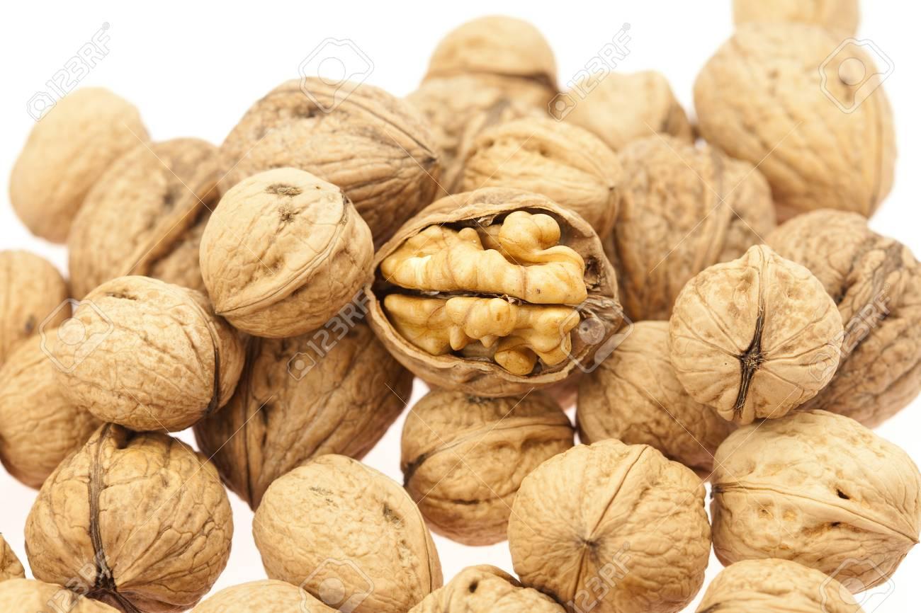 Walnuts isolated on white Stock Photo - 8184521