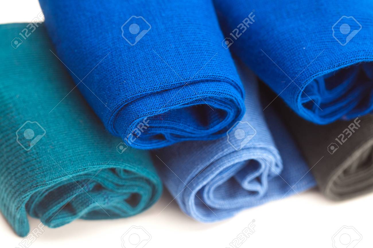 background of multi colored socks made of cotton Stock Photo - 9278267