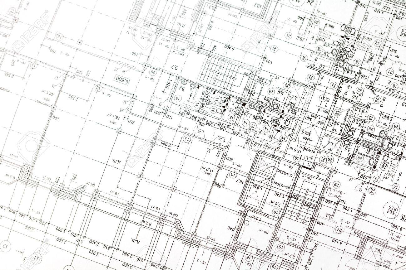 Background Of Architectural Drawing Stock Photo Picture And