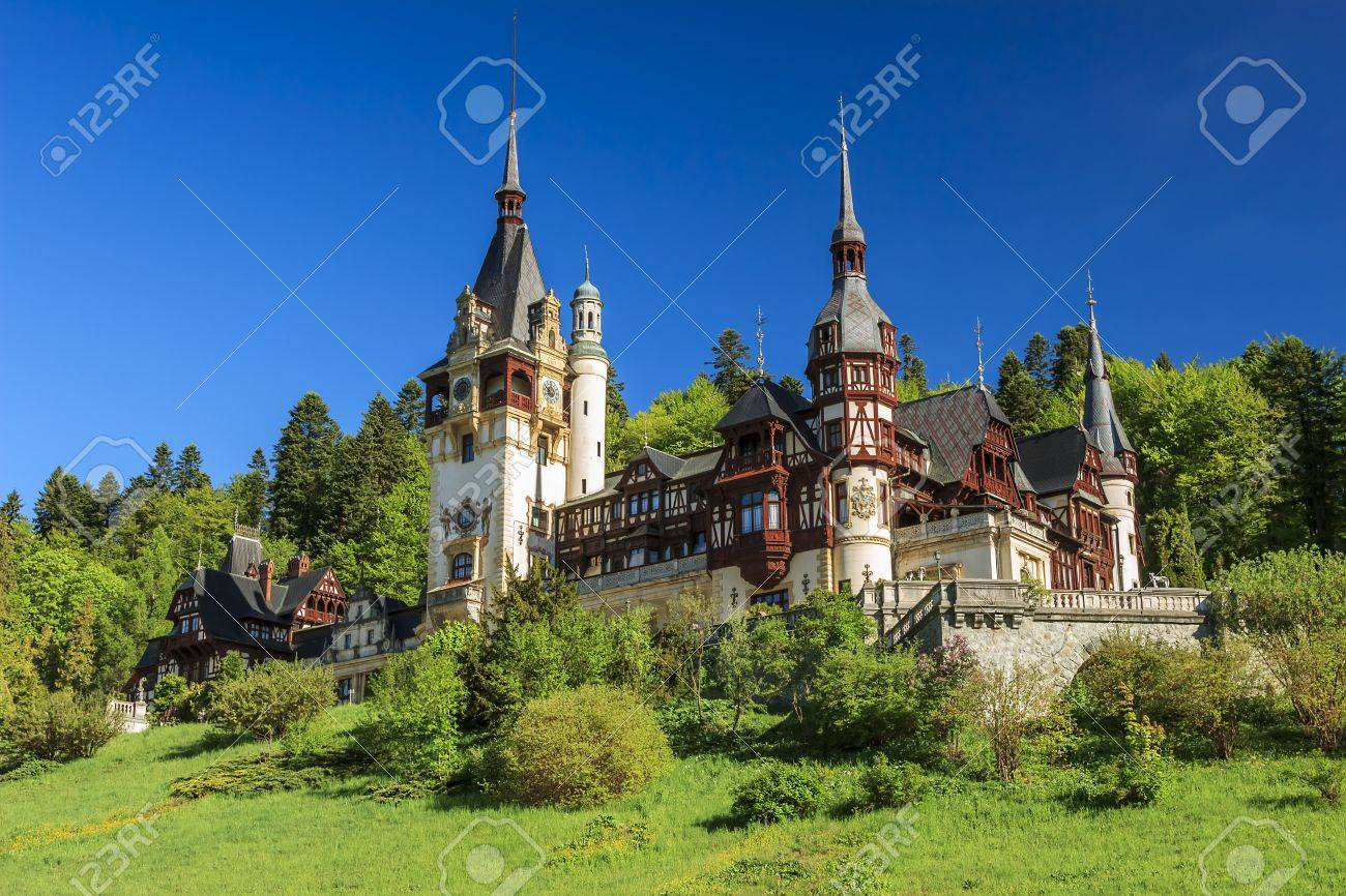 Beautiful royal Peles castle,Sinaia,Romania - 19686473