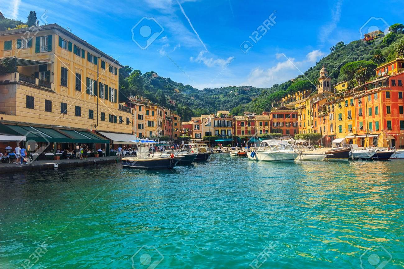 Häuser In Italien portofino panorama luxus hafen und die bunten häuser ligurien