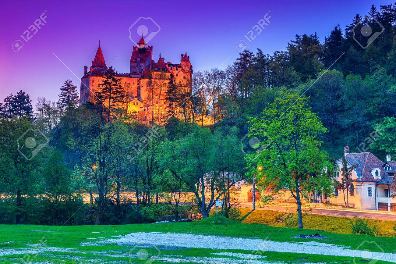 The famous Bran castle with stunning lights in the evening,Transylvania,Romania - 42992822