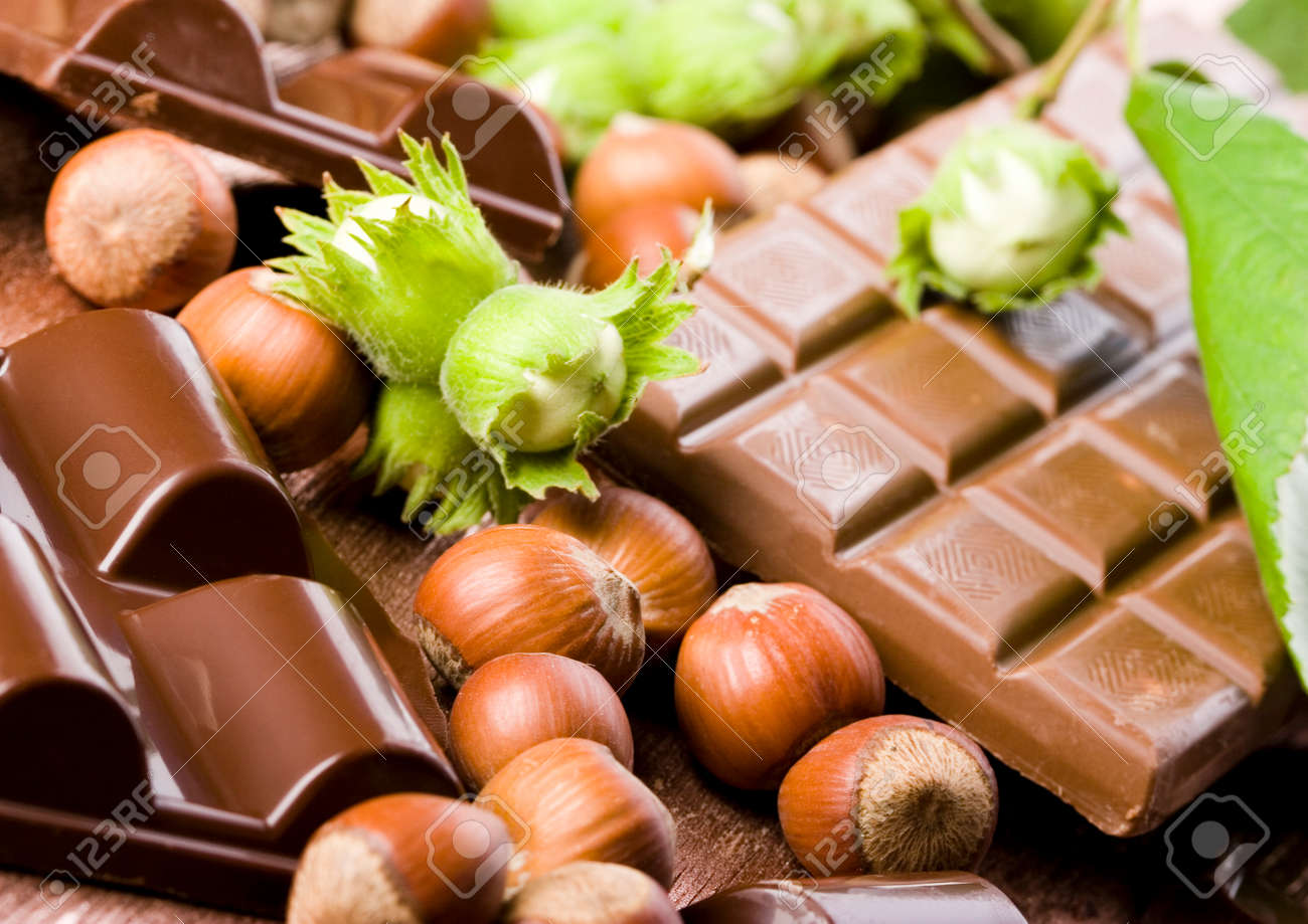 Chocolate & Nuts Stock Photo, Picture And Royalty Free Image ...