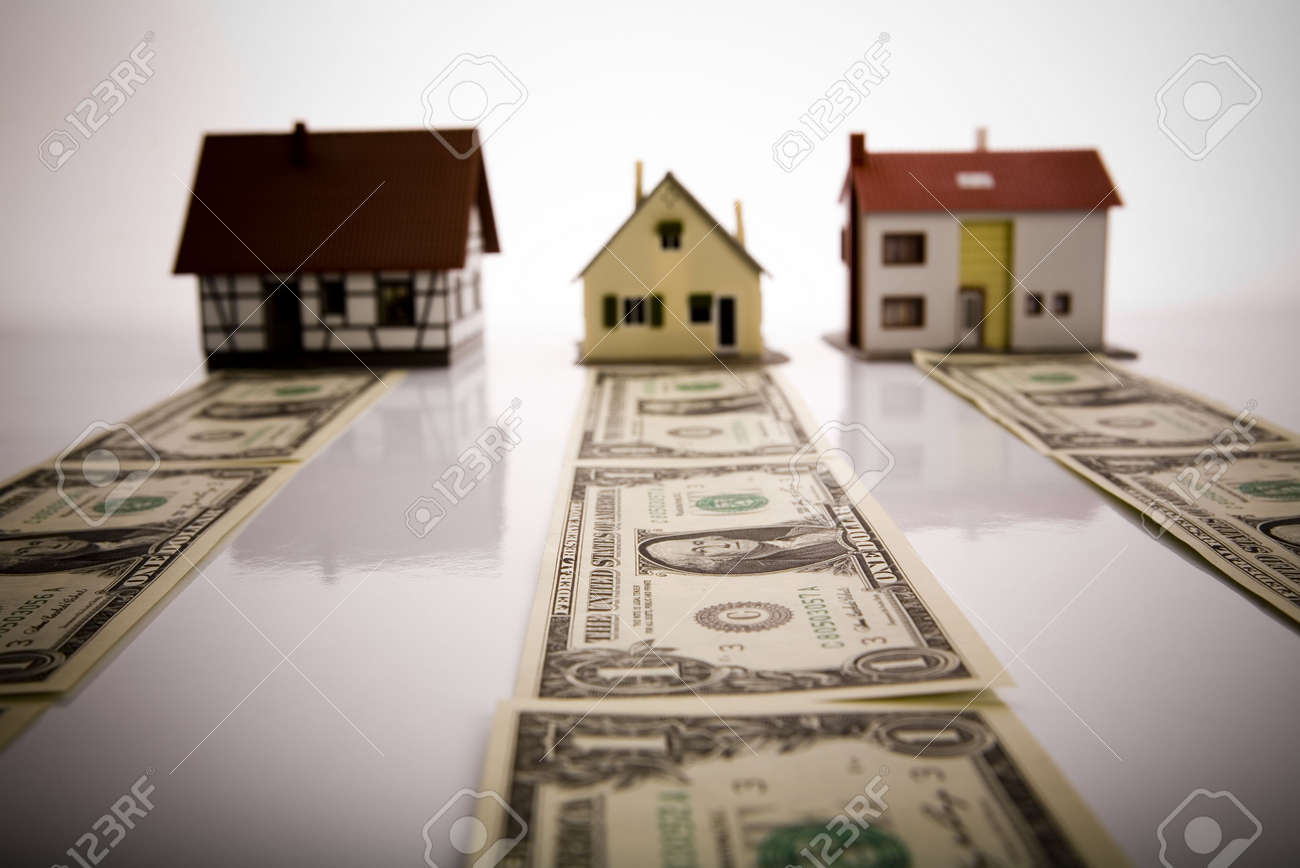 Dollars and House Stock Photo - 3273004
