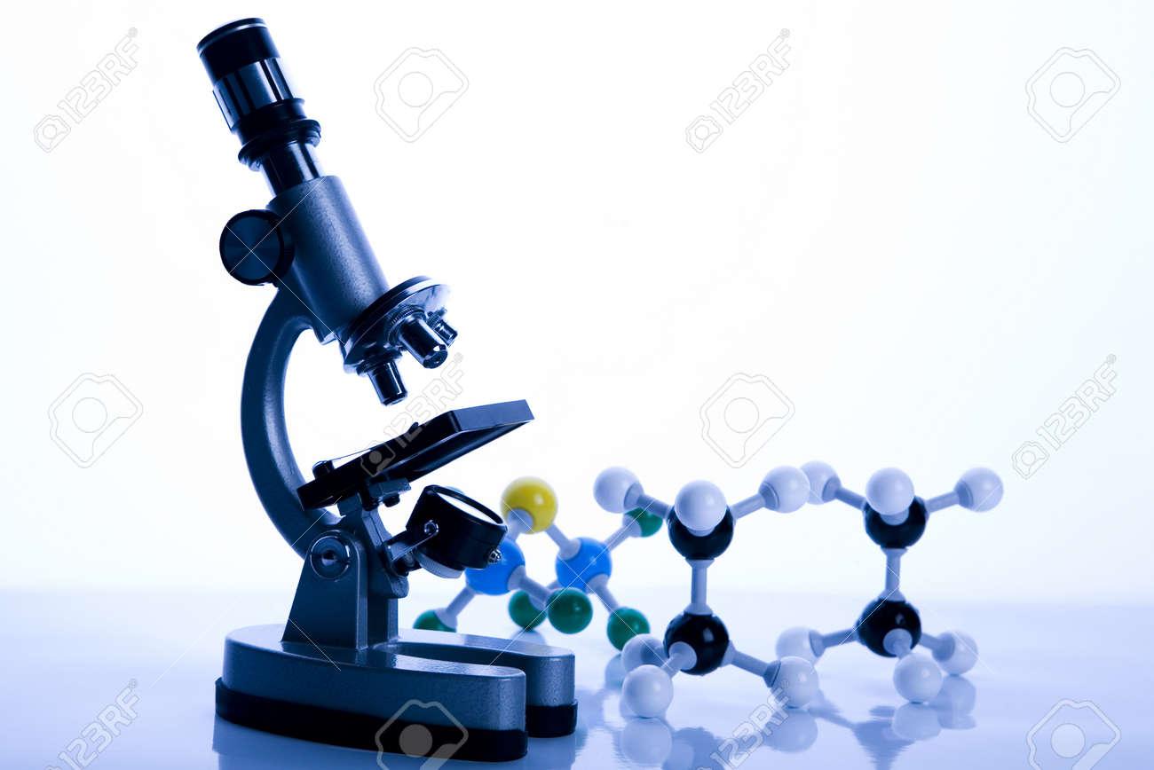Microscope and atom Stock Photo - 3493585
