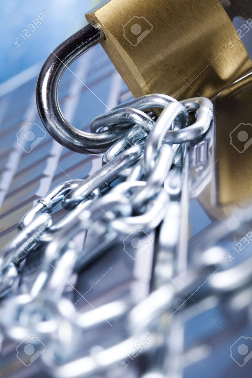 Locked keyboard Stock Photo - 5094456