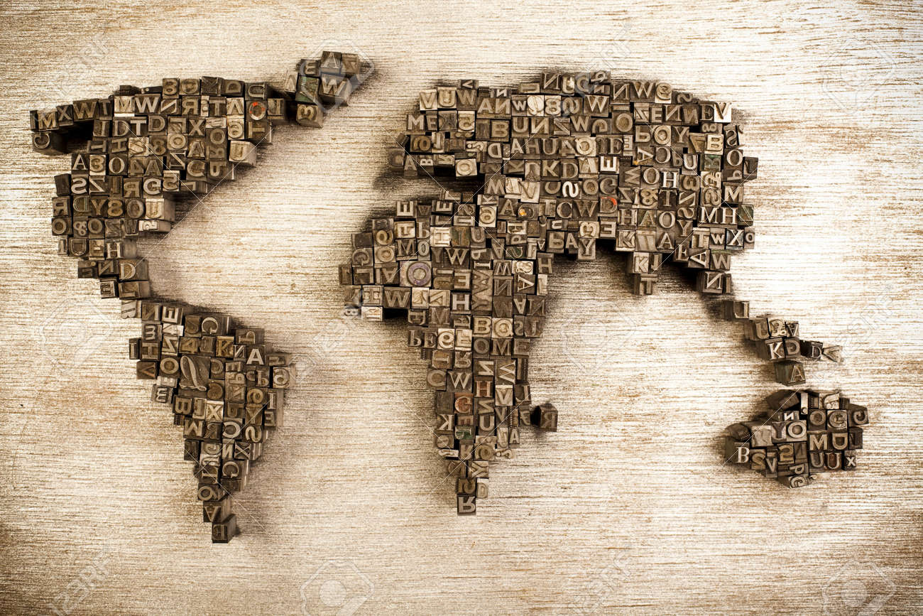 World and typography Stock Photo - 6333826