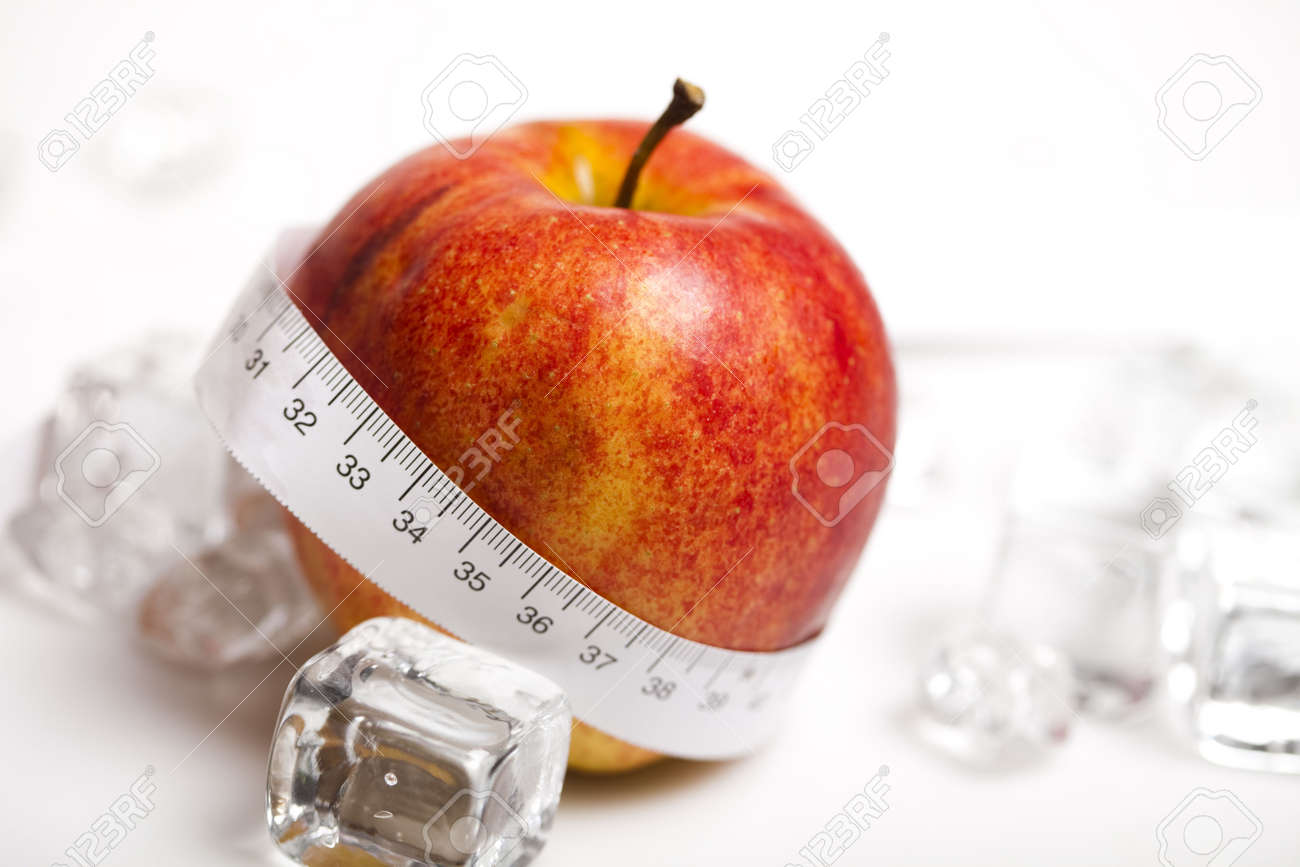 Apple and measurement tape Stock Photo - 6545645