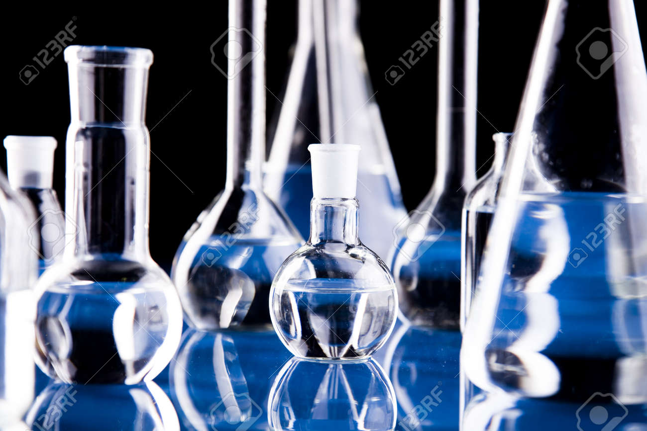 Glass in laboratory Stock Photo - 8564587