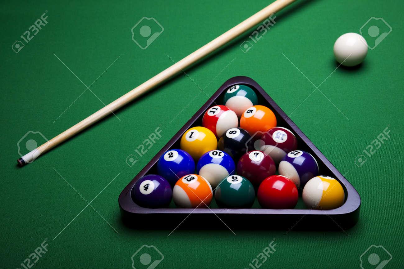 Close-up billiard ball Stock Photo - 9119572