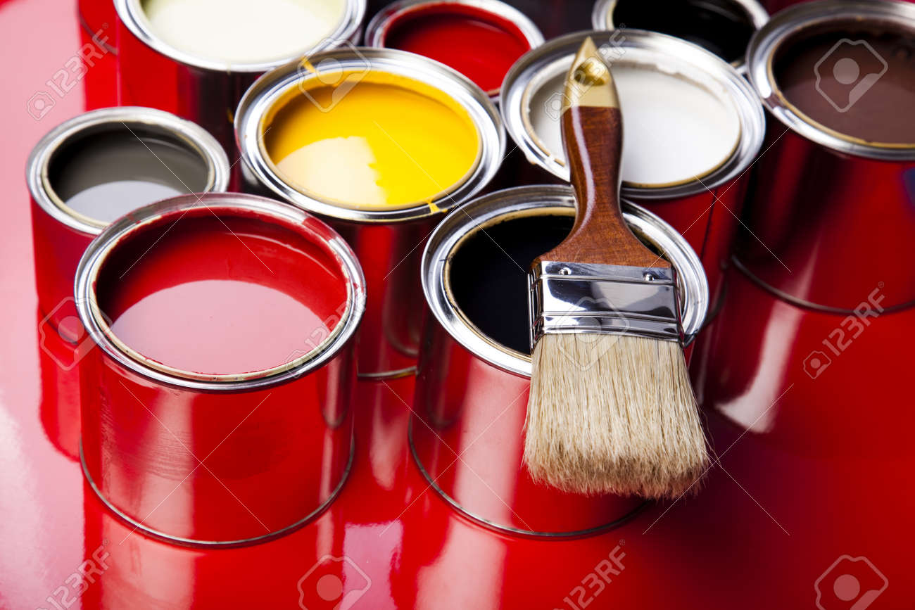 Brush and paint samples Stock Photo - 9950800