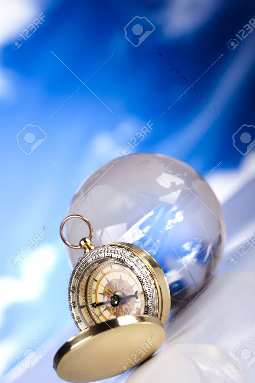 Compass and bluse sky Stock Photo - 12138706