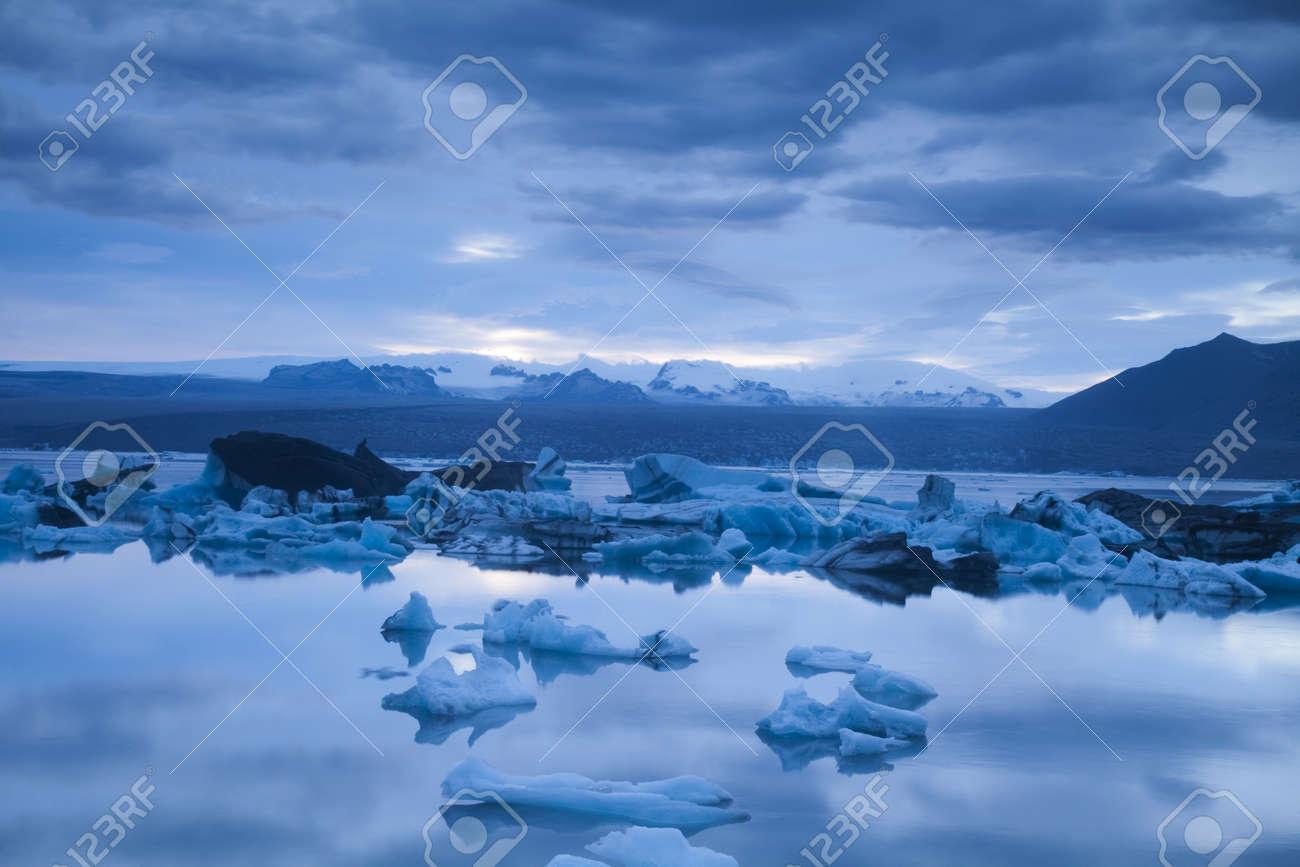 Landscape scenery with a ice, Jokulsarlon, Iceland Stock Photo - 12138837