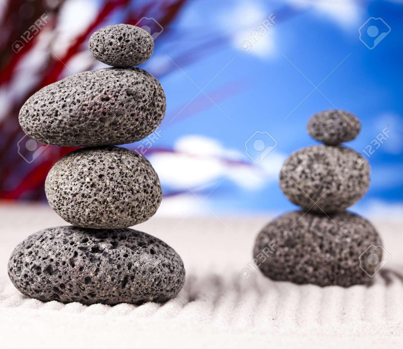Zen and blue sky Stock Photo - 12140828