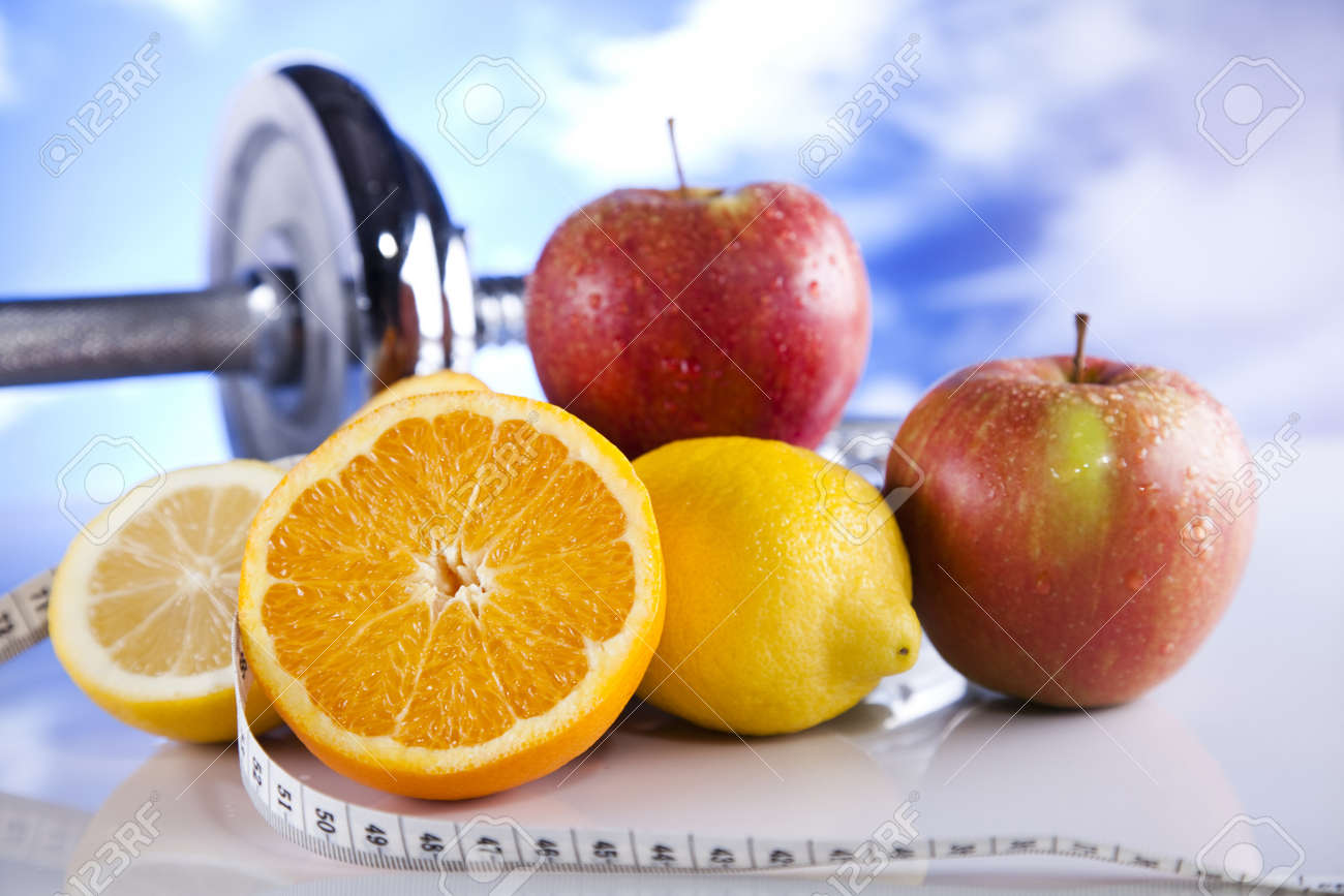 Healthy lifestyle concept, Diet and fitness - 12141011
