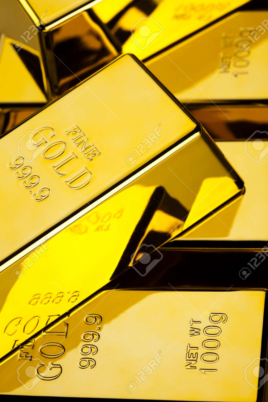Stack of gold bars Stock Photo - 13342185
