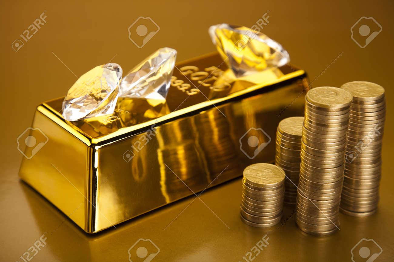 Diamond and gold Stock Photo - 13342282