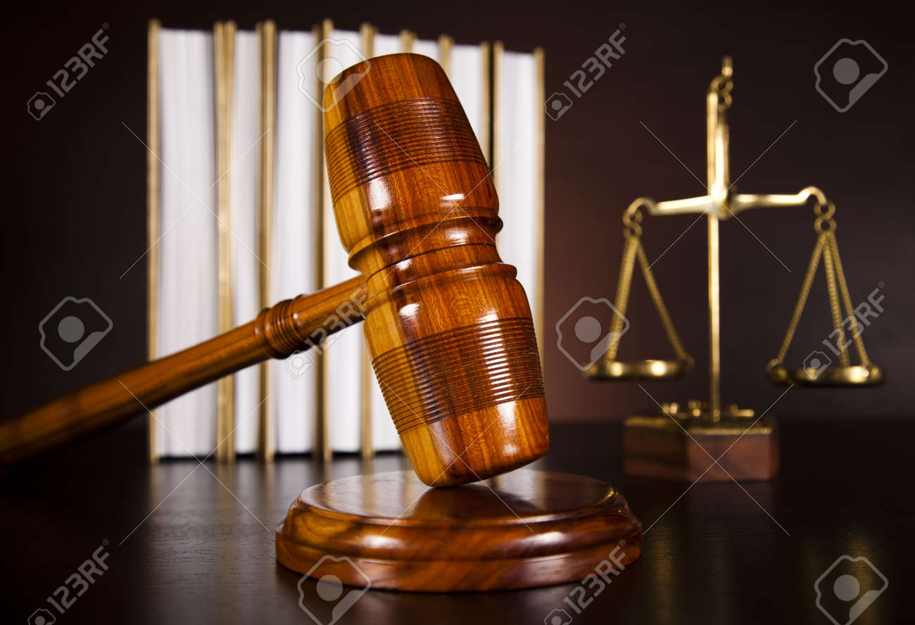 Legal gavel on a law book Stock Photo - 18746917