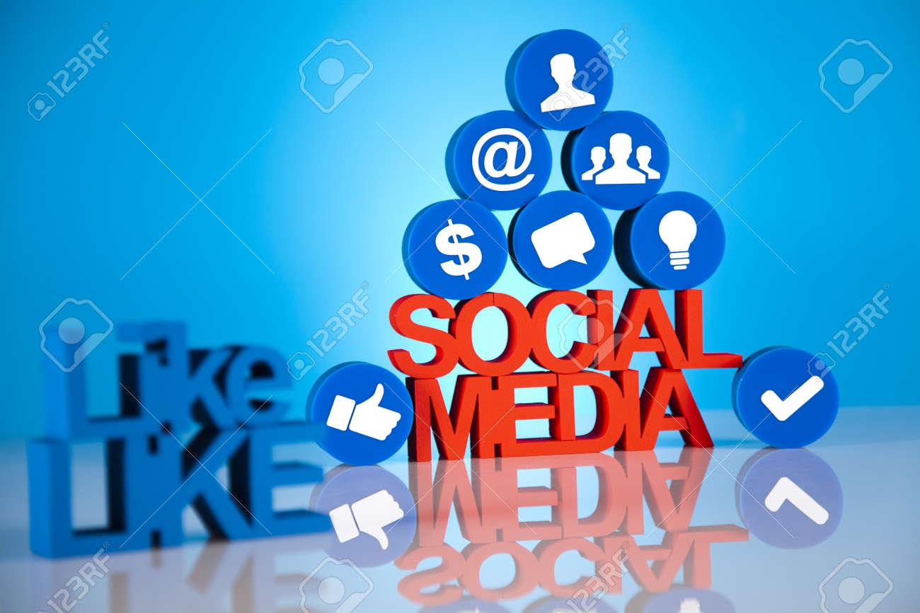 Social media icons set Stock Photo - 19410392