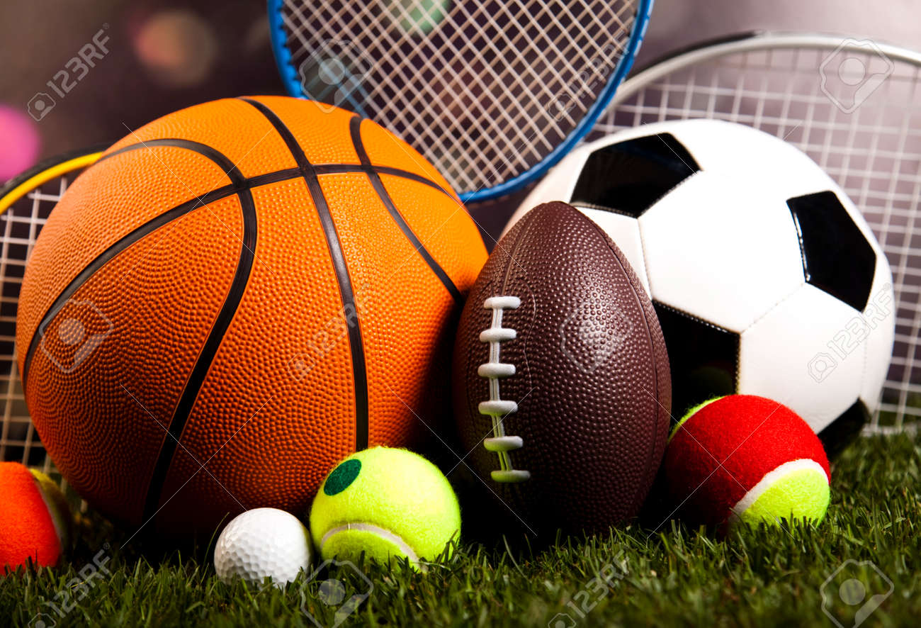 Sports Equipment and grass - 31738936