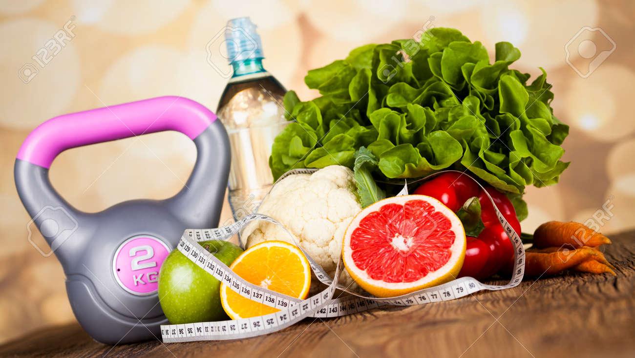 Healthy lifestyle concept, vitamins composition - 45195280