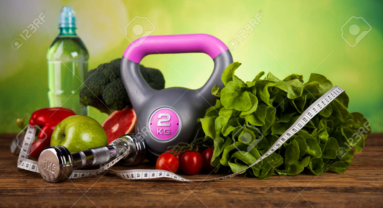 Healthy lifestyle concept, Diet and fitness - 45195608