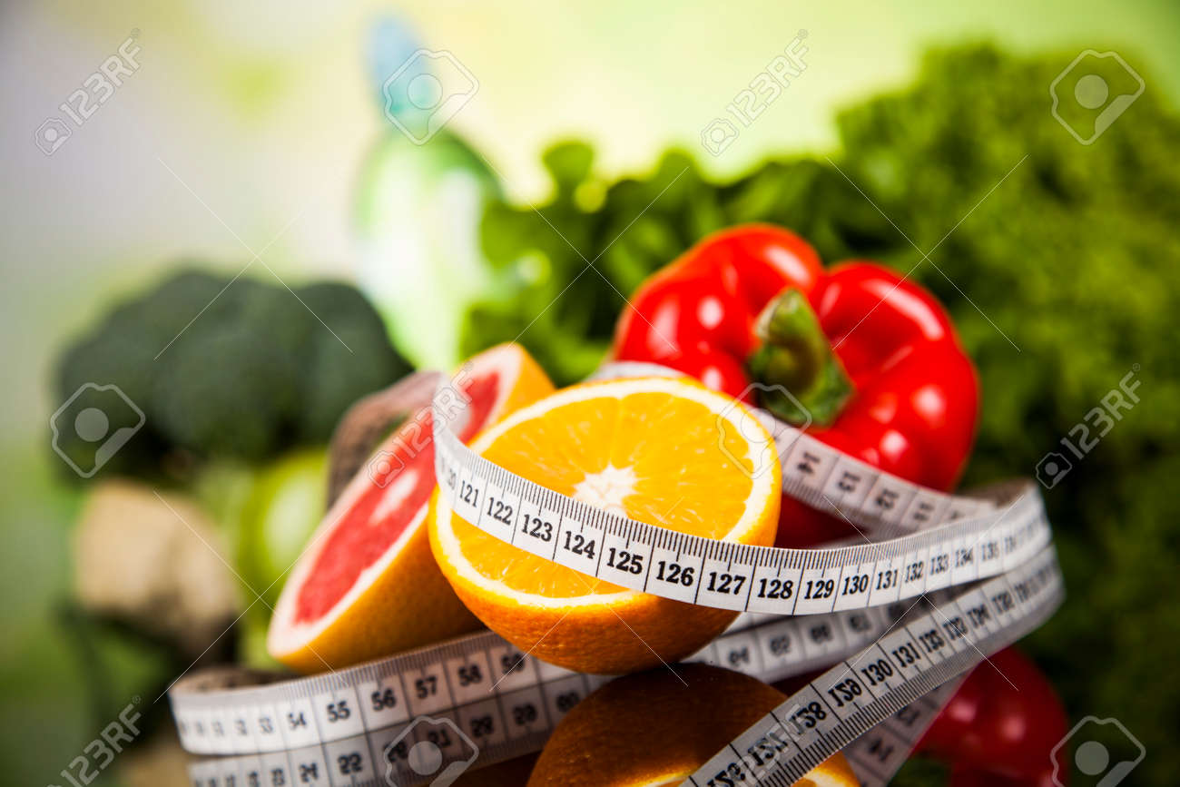 Healthy lifestyle concept, Diet and fitness - 45196439