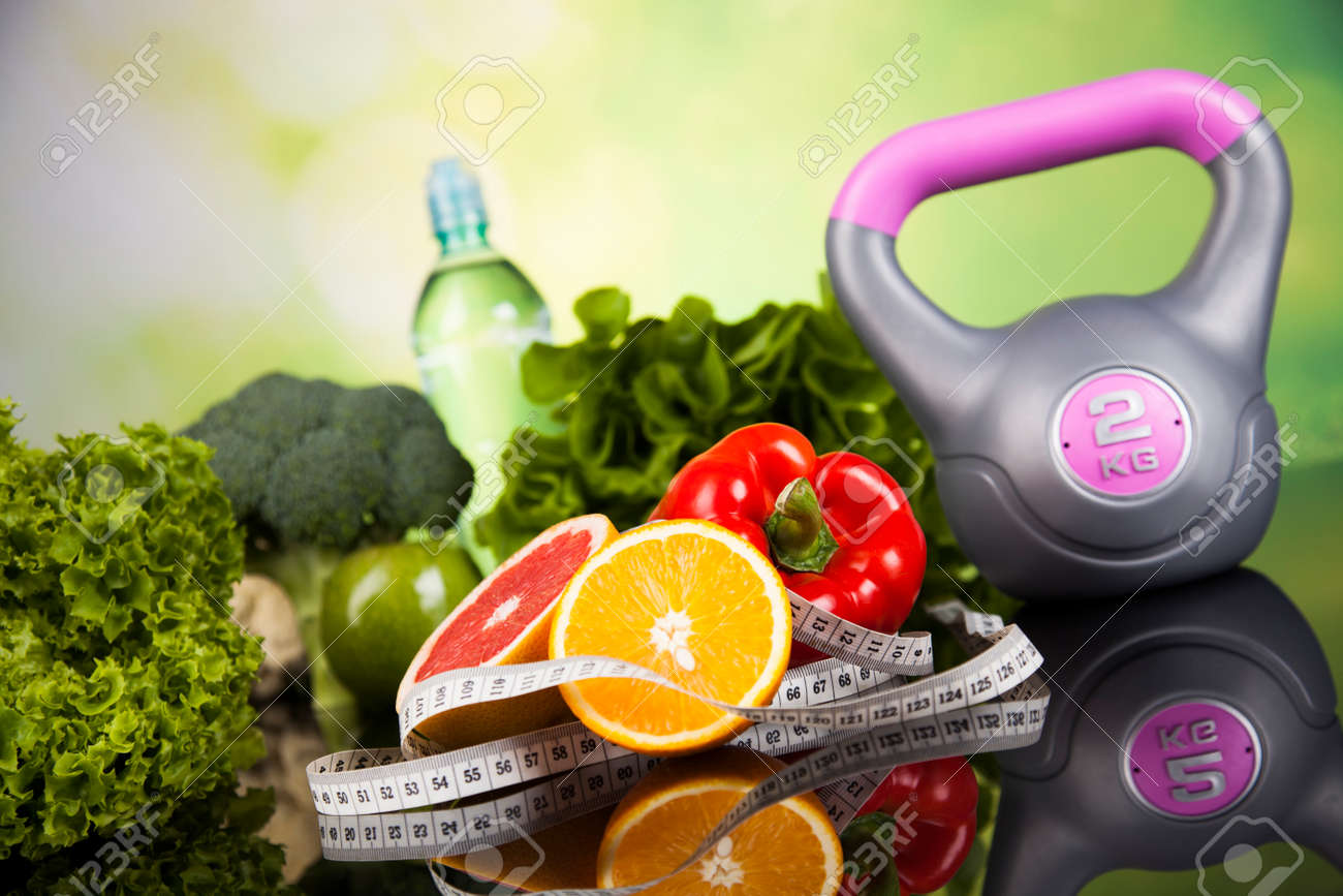 Healthy lifestyle concept, Diet and fitness - 45198595