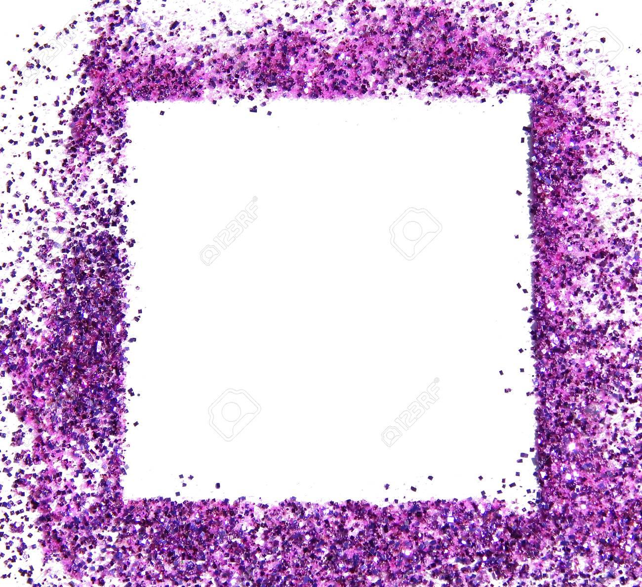 El Marco De La Chispa Púrpura Del Brillo En El Fondo Blanco, Se ...