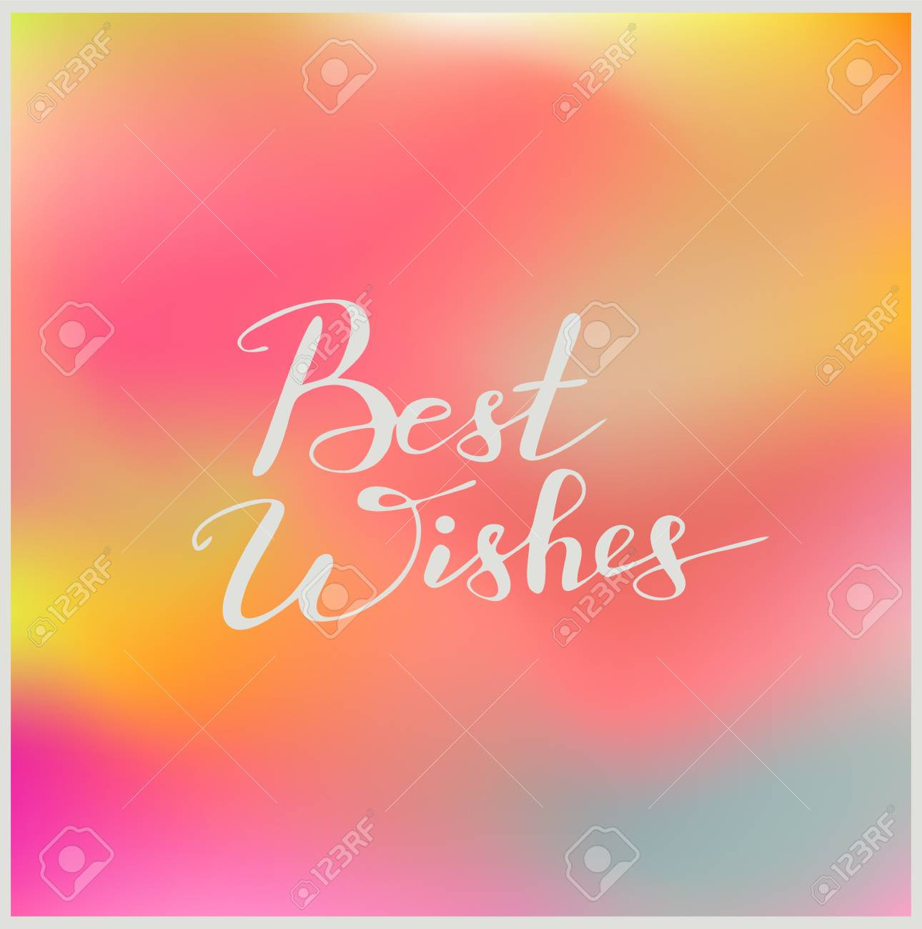 Handwriting Words Best Wishes On Beautiful Colorful Background ...