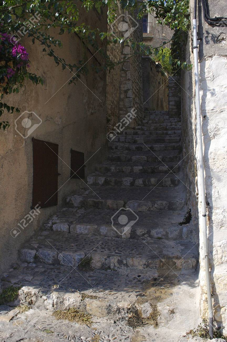 Stair of the narrow medieval street Stock Photo - 1988958