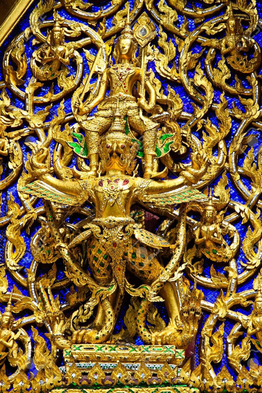 Temple decorations  sculpture of God  , Thailand Stock Photo - 19245140