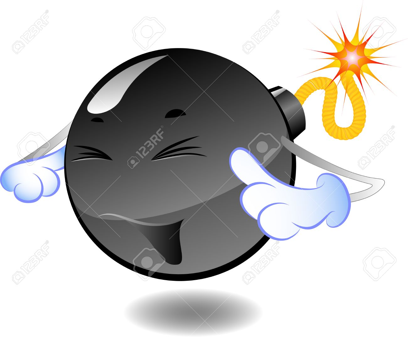 Bomb - series of caricatures of bombs Stock Vector - 5456537