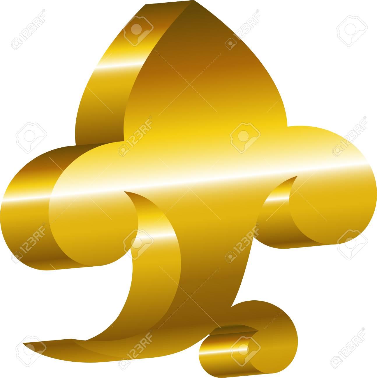 Element of design - a golden cartouche. EPS 8 Stock Vector - 5655374