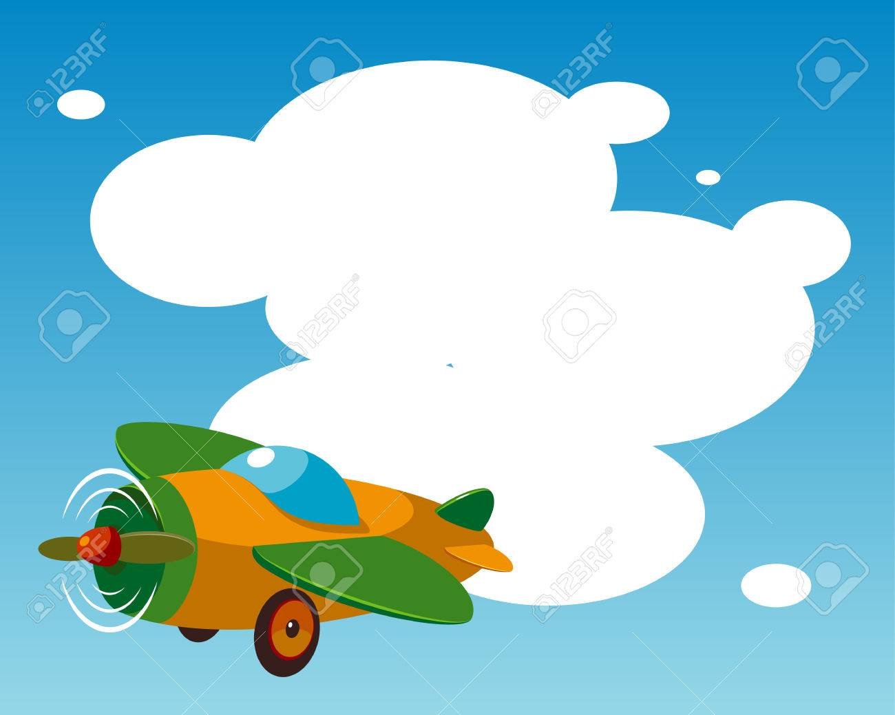 Background with plane. Stock Vector - 6298307