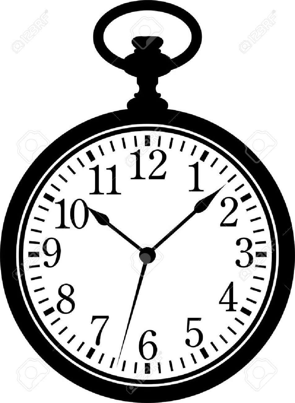 stopwatch clipart black and white. silhouette black on white stock vector 7833153 stopwatch clipart and
