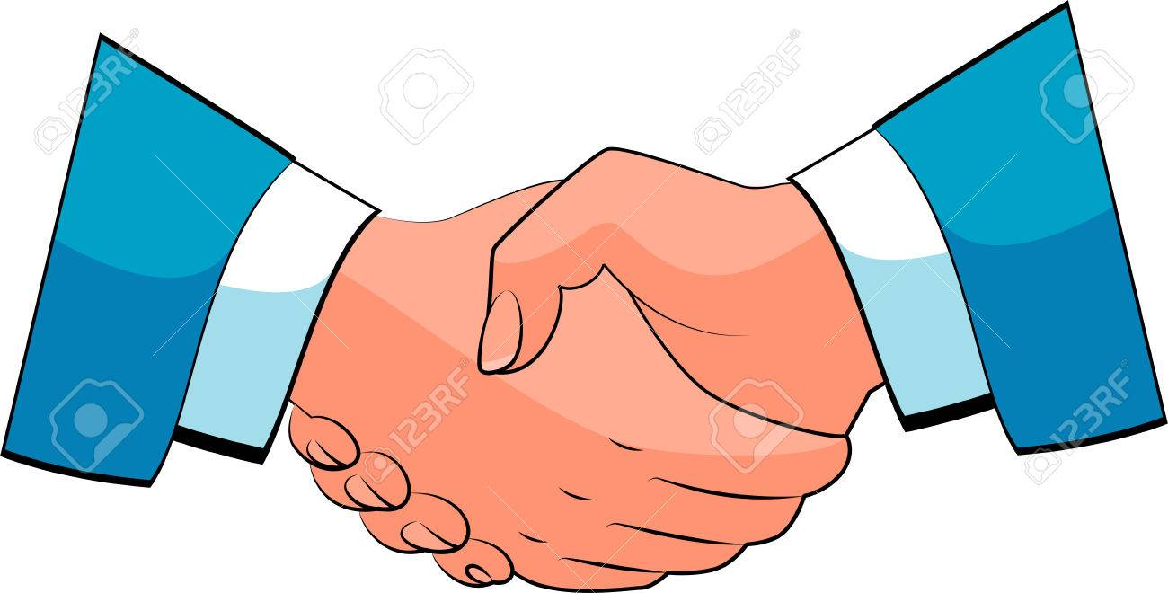 Business handshake.  over white. Stock Vector - 7833158